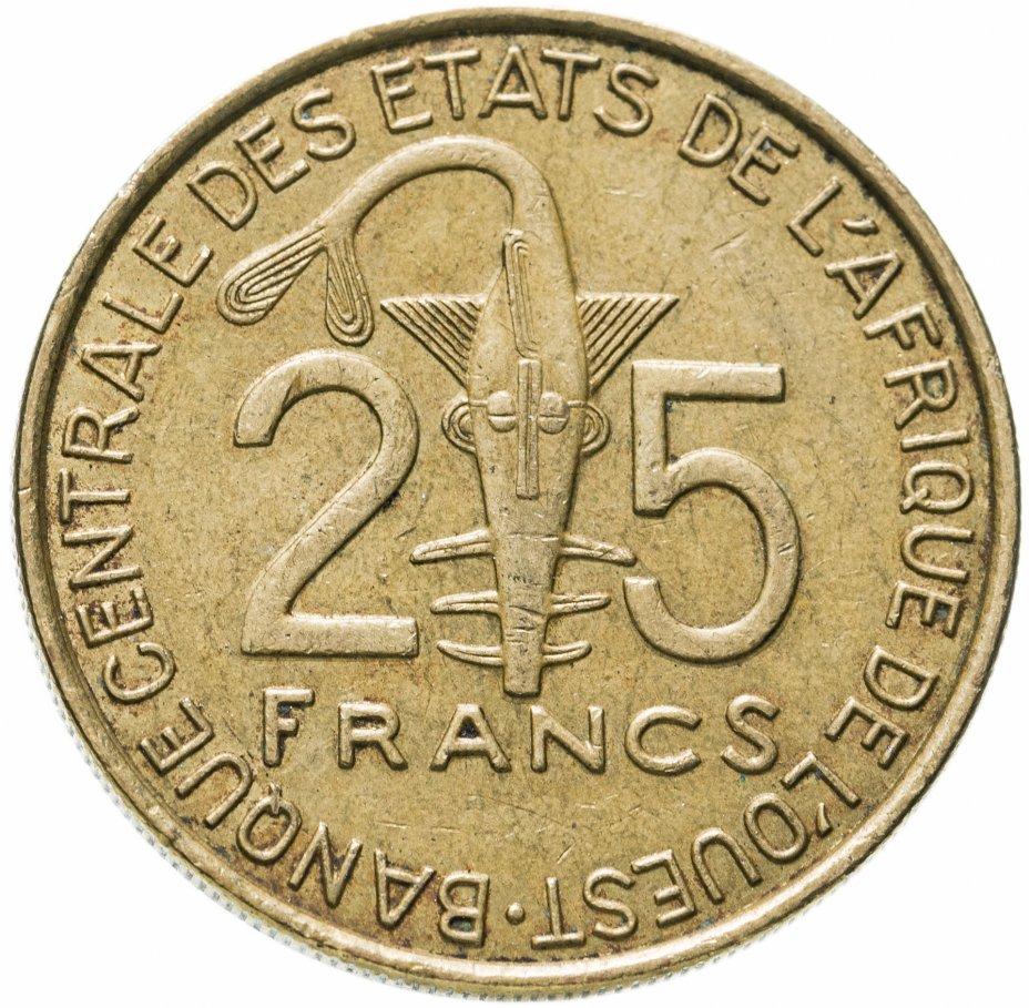 купить Западная Африка (BCEAO) 25 франков (francs) 1980-2019, случайная дата