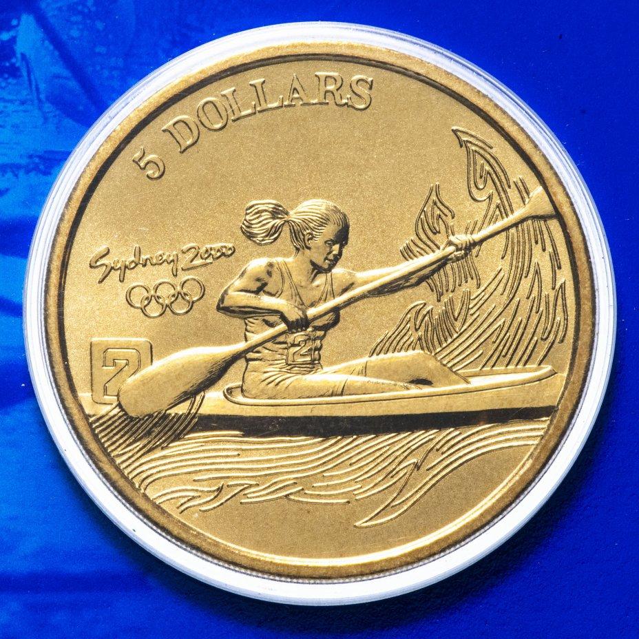 купить Австралия 5 долларов (dollars) 2000 Олимпийские игры в Сиднее - Гребля на байдарках и каноэ