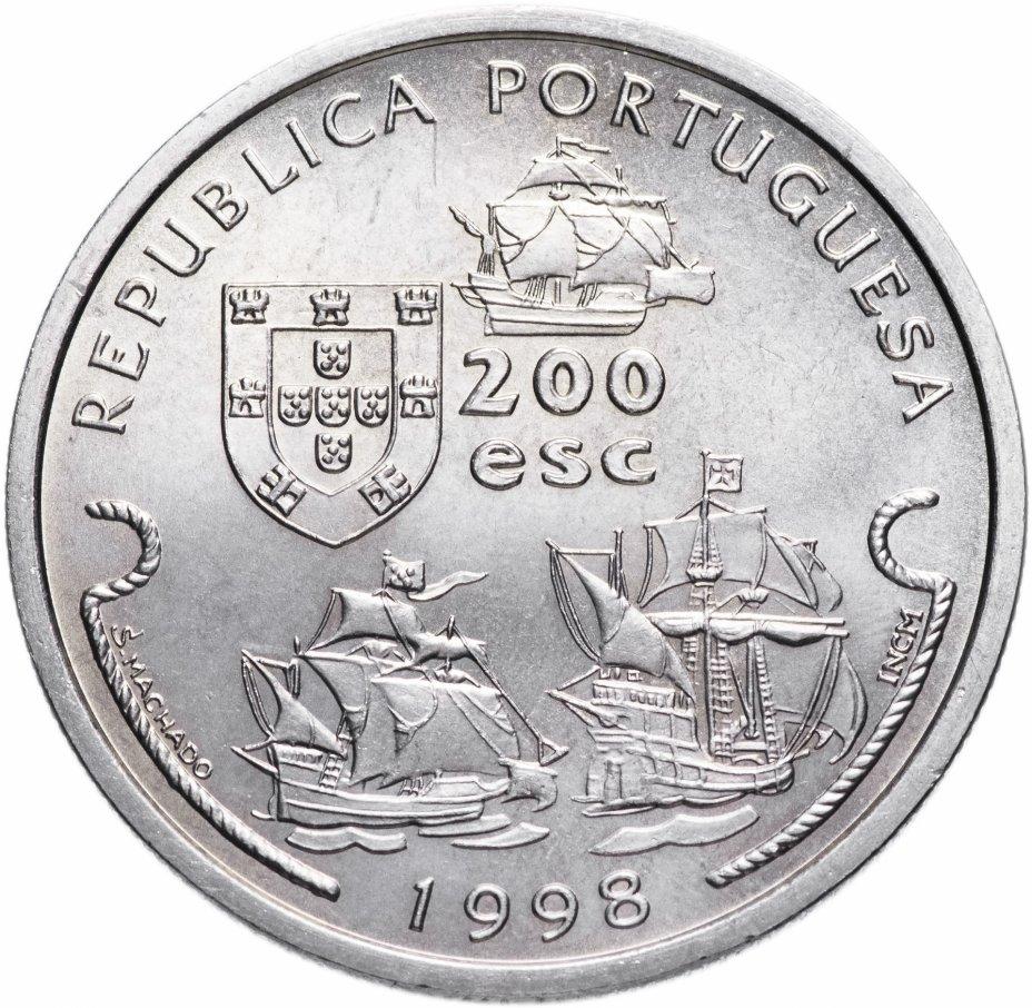 """купить Португалия 200 эскудо (escudos) 1998   """"Путешествие Васко да Гамы в Индию 1498 года - Васко да Гама"""""""