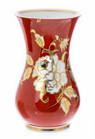 """купить Ваза изящной формы, декорированная цветком, фарфор, мануфактура """"Schaubach-kunst"""", Германия, 1953-1962 гг."""