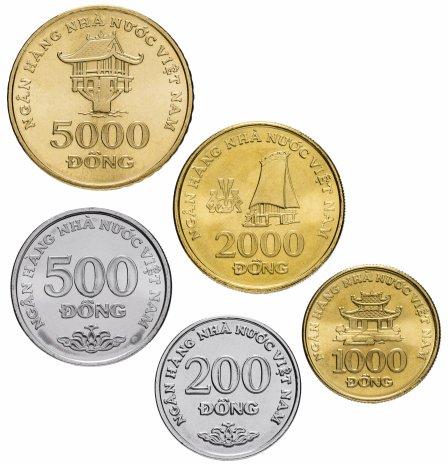купить Вьетнам набор монет 2003 (5 штук)