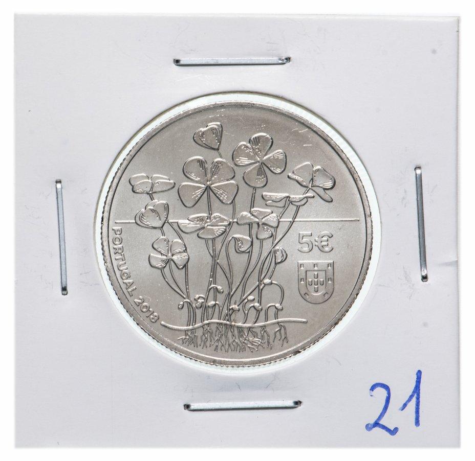 купить Португалия 5 евро 2018 Четырехлистный клевер