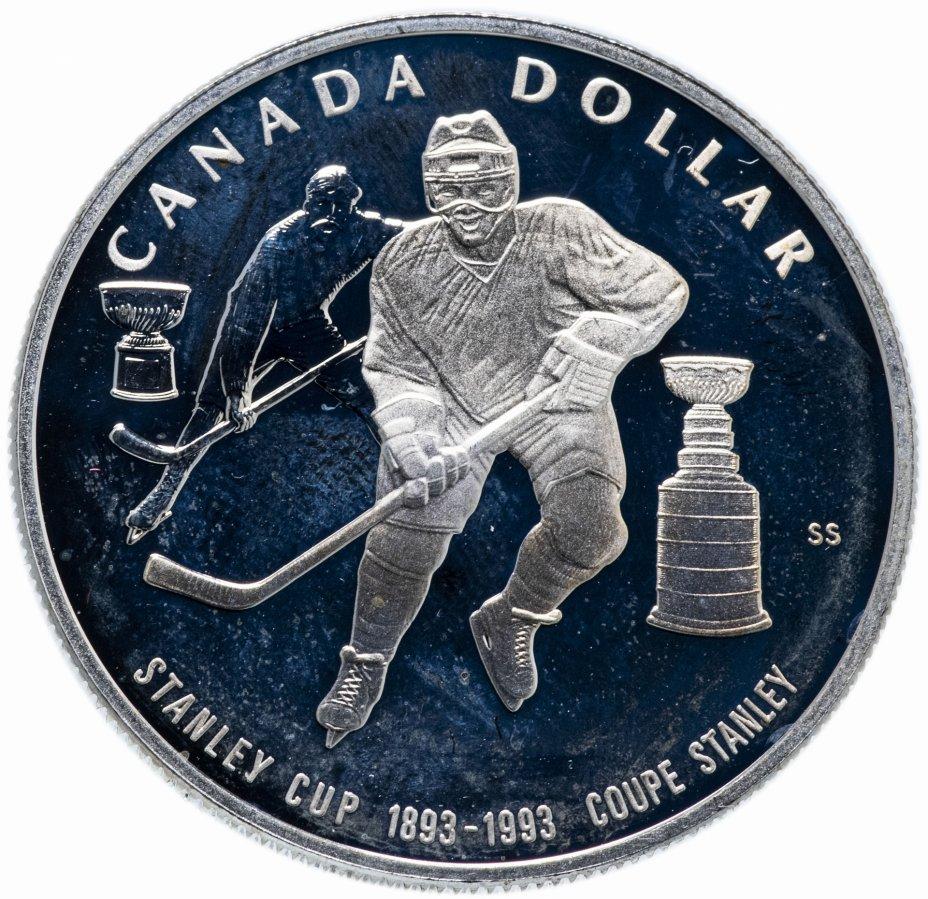 купить Канада 1 доллар (dollar) 1993 100 лет Кубку Стенли
