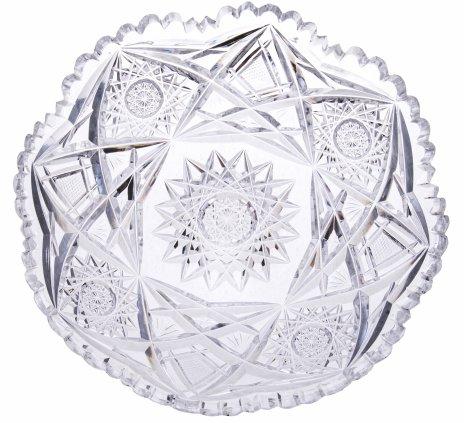 купить Тарелочка для мелочей выполненная в технике алмазной грани, хрусталь, СССР, 1970-1990 гг.