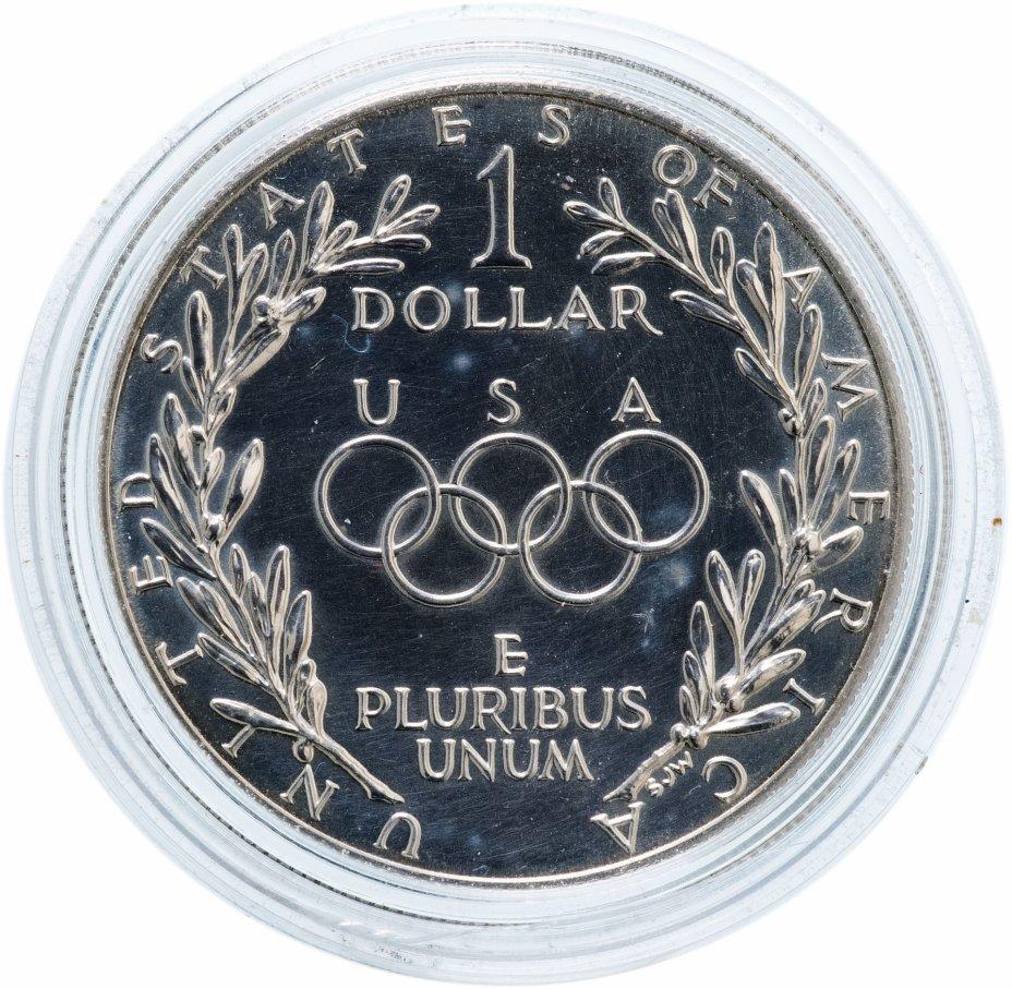 "купить США 1 доллар (dollar) 1988 D ""Олимпийский огонь"""