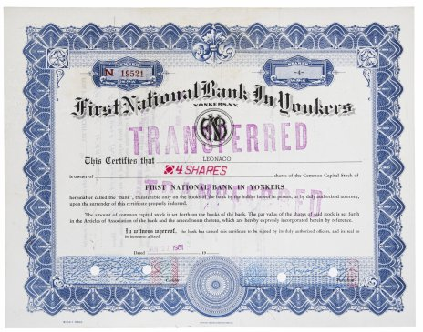 купить Акция США First National Bank in Yonkers, 1961 г.