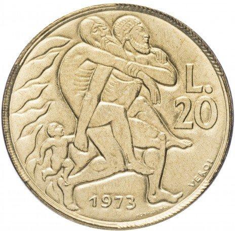 купить Сан-Марино 20 лир 1973