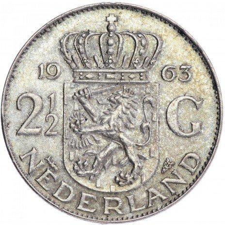 купить Нидерланды 2,5 гульдена 1963