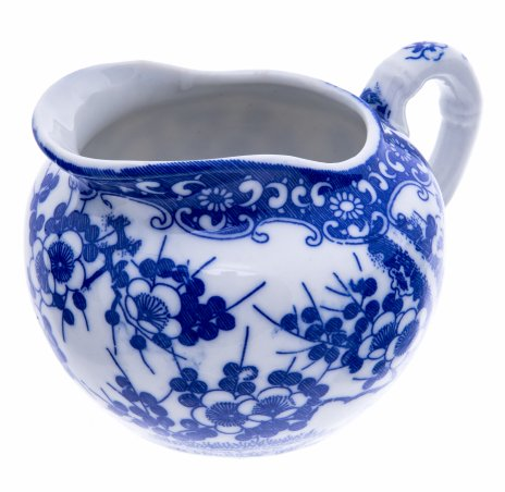 купить Молочник в восточном стиле с цветочным узором, фафрор, деколь, Китай, 1990-2010 гг.