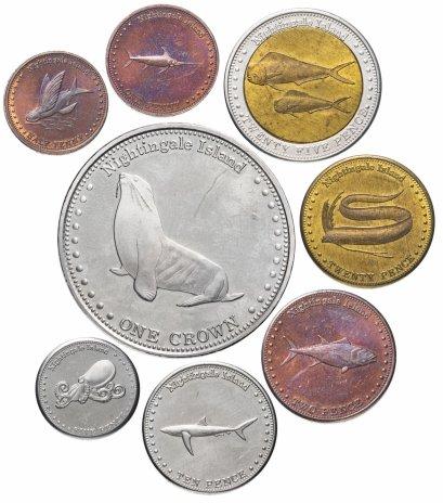 купить Тристан-да-кунья набор из 8 жетонов 2011