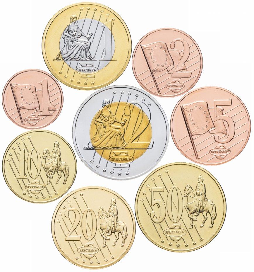 купить Андорра 2003 набор из 8 монетовидных жетонов пробных евро