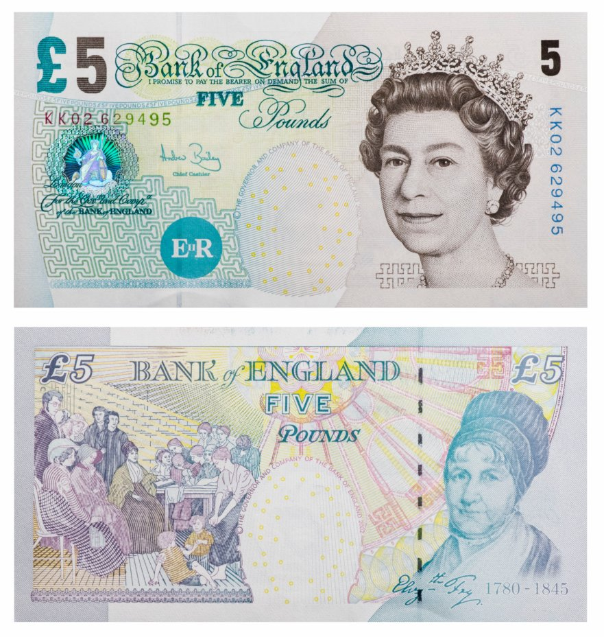 купить Англия 5 фунтов 2002 (Pick  391c)