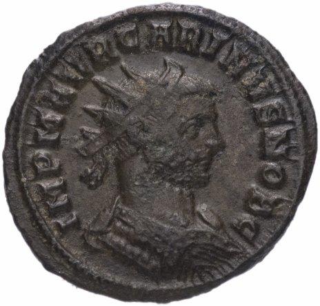 купить Римская Империя Карин 283–285 гг антониниан (реверс: Император стоит вправо, принимает от Юпитера Викторию на шаре)