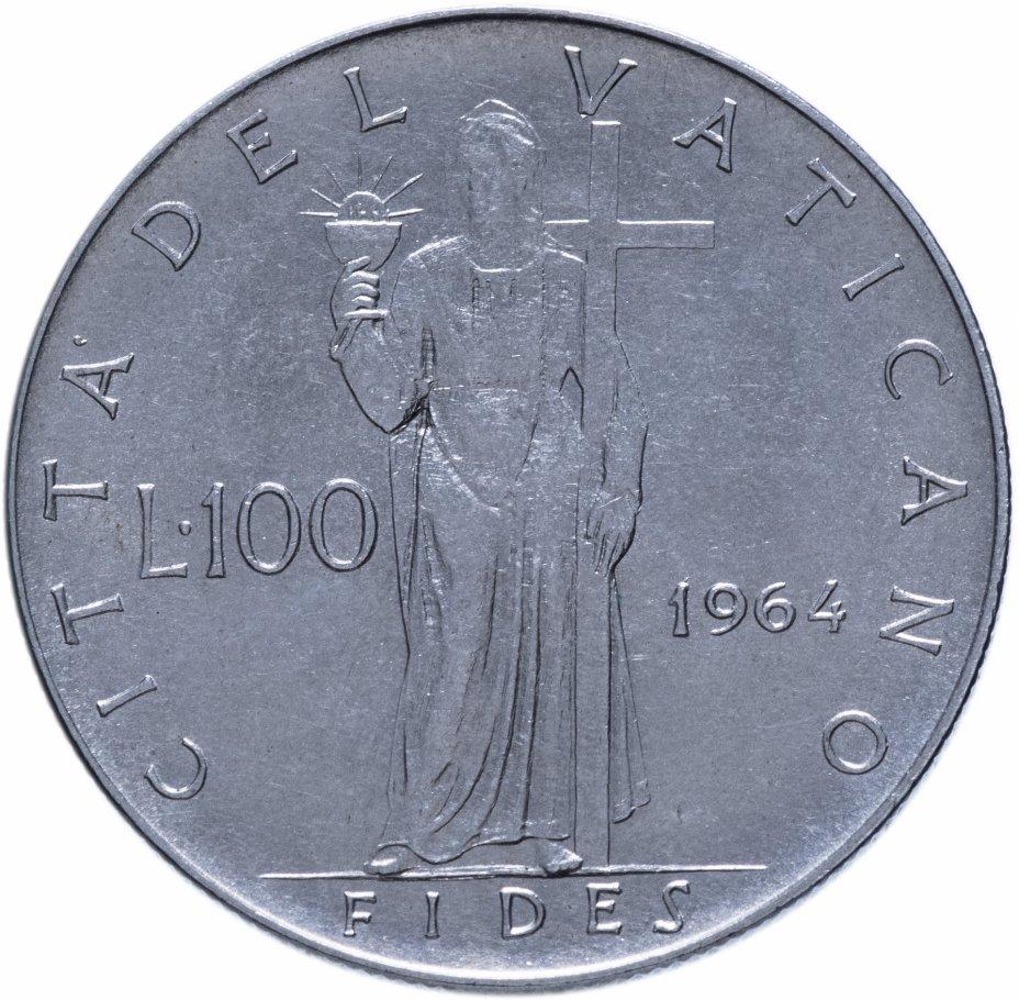 купить Ватикан 100лир (lire) 1964