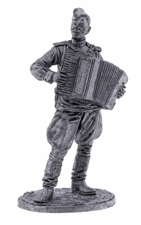 купить Оловянный солдатик, Лейтенант Красной Армии с аккордеоном 1943-45 СССР, Россия, 2021