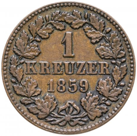 купить Герцогство Нассау 1 крейцер 1859