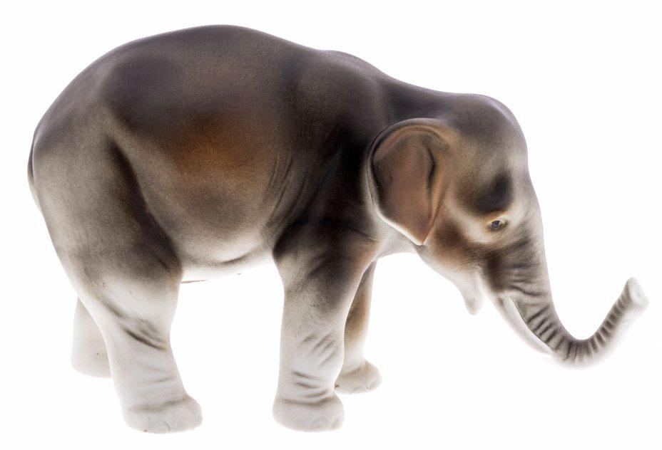 """купить Статуэтка """"Слон"""", фарфор, бисквит, роспись, мануфактура """"Royal Dux"""", Чехия, 1993-2000 гг."""