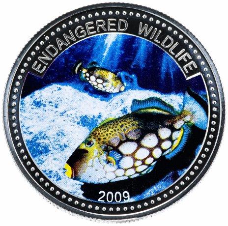 """купить Палау 1 доллар (dollar) 2009 """"Подводный мир - Вымирающие виды"""""""
