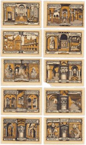 купить Германия (Саксония: Гернроде) набор из 10 нотгельдов 1921