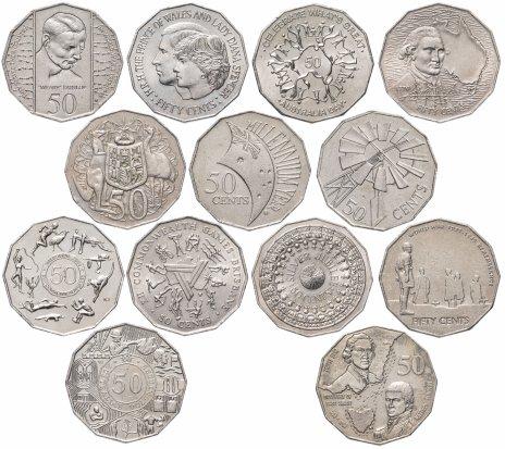 купить Австралия набор из 13 монет 1970-2010
