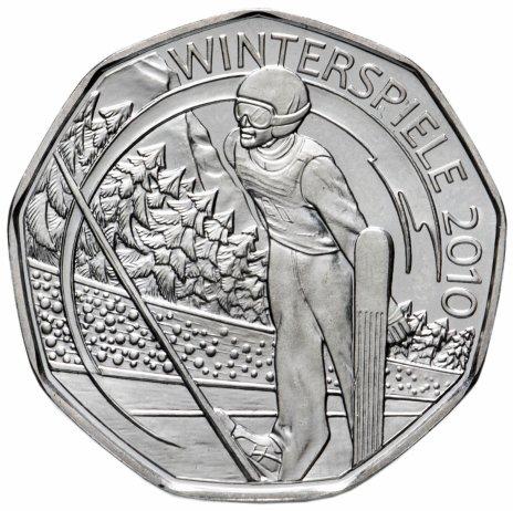 """купить Австрия 5 евро 2010 """"XXI зимние олимпийские игры - Прыжки на лыжах с трамплина"""""""