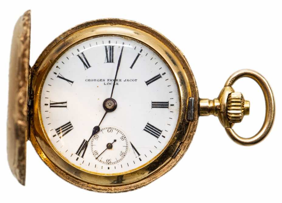 купить Часы карманные золотые Georges Favre-Jacot, Швейцария