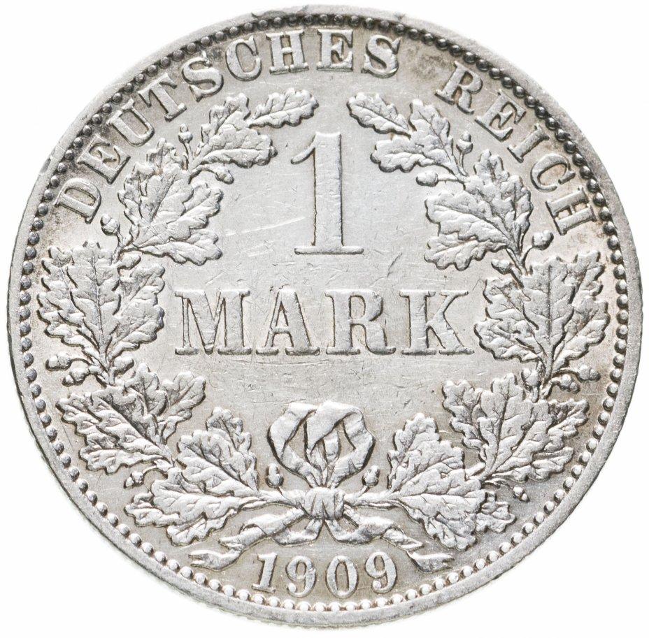 """купить Германская империя 1 марка 1909 """"А"""" - Берлин"""