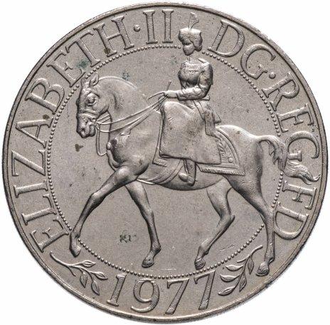 """купить Великобритания 25 новых пенсов (1 крона) 1977 """"25 лет правления Елизаветы II"""""""