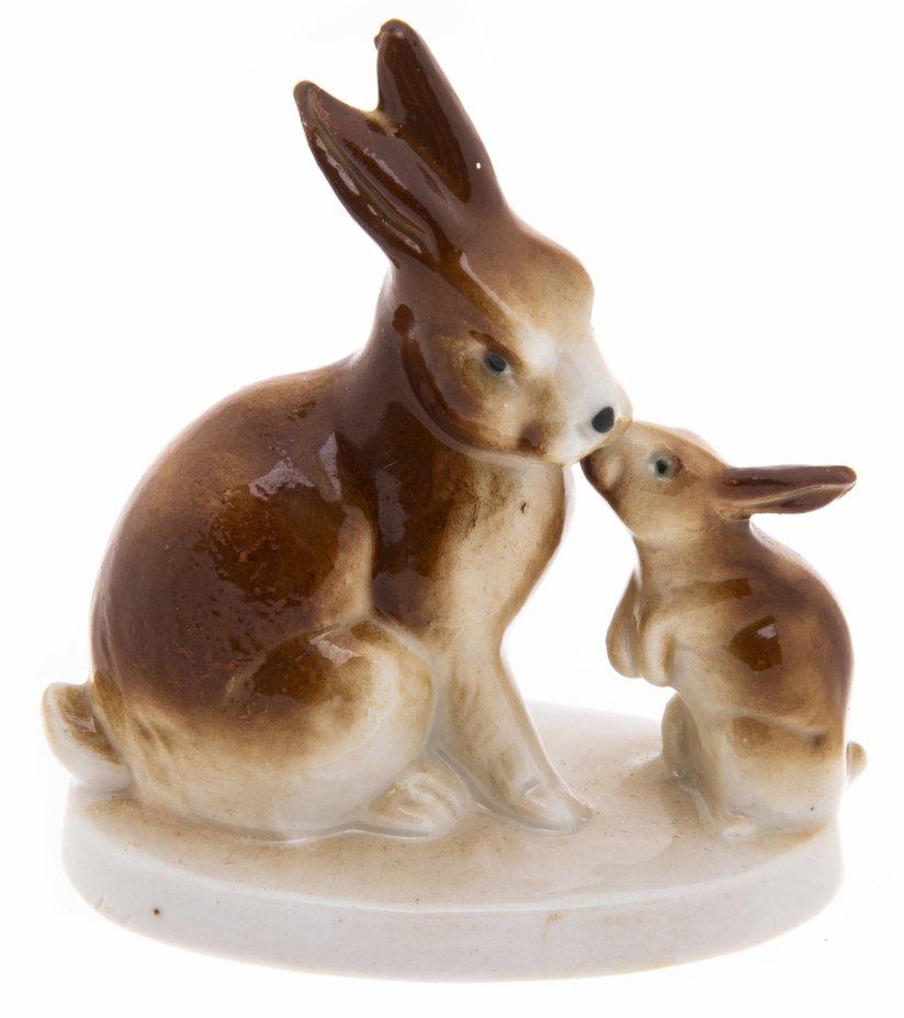 """купить Статуэтка """"Кролики"""", фарфор, аэрограф, Западная Европа, 1980-2000 гг."""