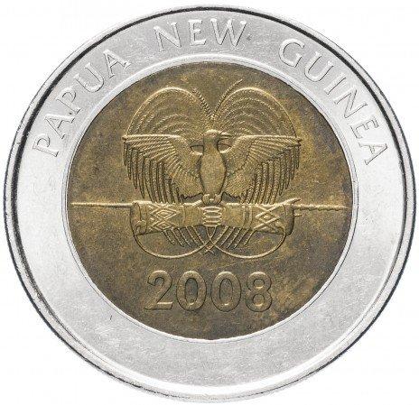 """купить Папуа - Новая Гвинея 2 кина 2008 """"35-летие Банка Папуа - Новой Гвинеи"""""""