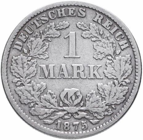 """купить Германия (Германская Империя) 1 марка 1875 """"Е"""""""