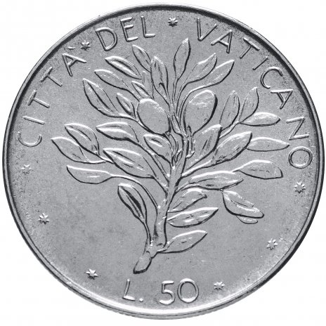 купить Ватикан 50 лир 1970-1976