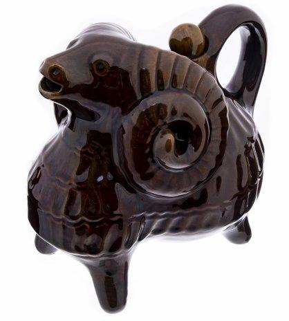 купить Кувшин сувенирный в виде барана, керамика, глазурь,  СССР, 1960-1980 гг.