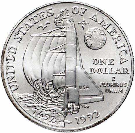 купить США 1 доллар 1992 Пятисотлетие Колумба