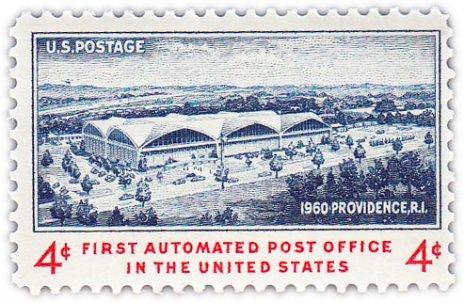 """купить США 4 цента 1960 """"Первая автоматизированная почта в США"""""""