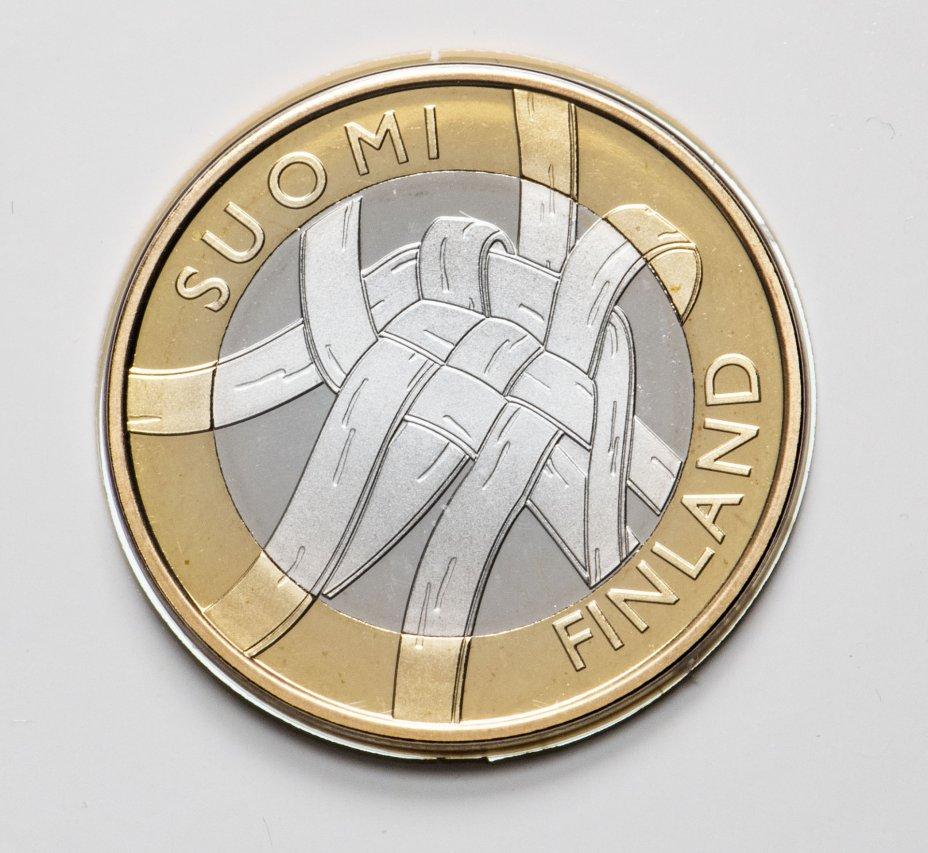 """купить Финляндия 5 евро 2011 """"Карелия"""" в буклете"""