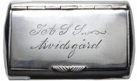 купить Таблетница старинная, серебро 830 пр., золочение, Швеция, 1834 г.