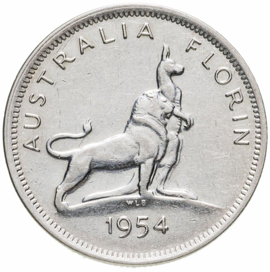 """купить Австралия 1 флорин 1954 """"Визит королевы Елизаветы II в Австралию"""""""