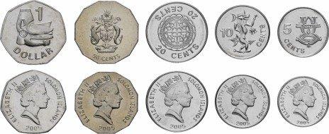 купить Соломоновы острова набор монет 2005 (5 штук)
