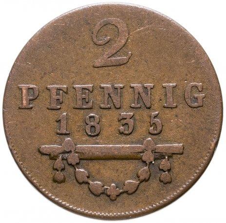 купить Герцогство Саксен-Мейнинген 2 пфеннига 1835