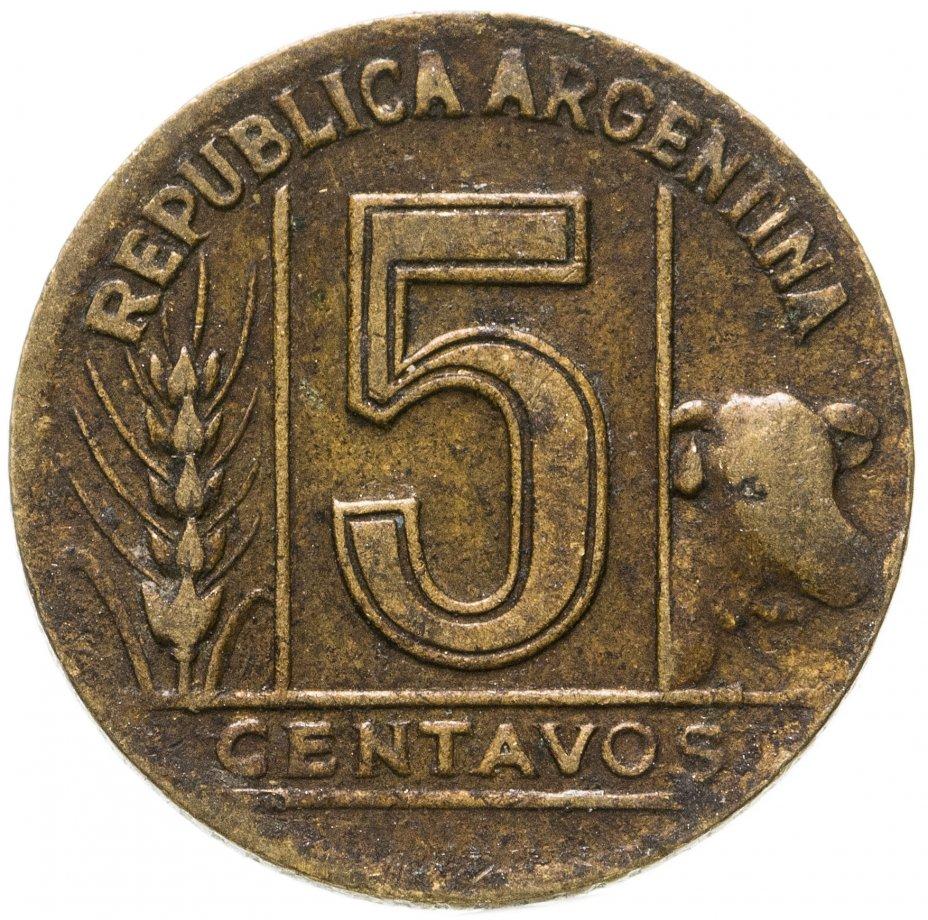 купить Аргентина 5 сентаво (centavos) 1945
