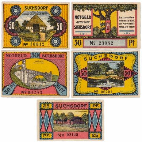 купить Германия (Шлезвиг-Гольштейн: Зуксдорф) набор из 5 нотгельдов 1921