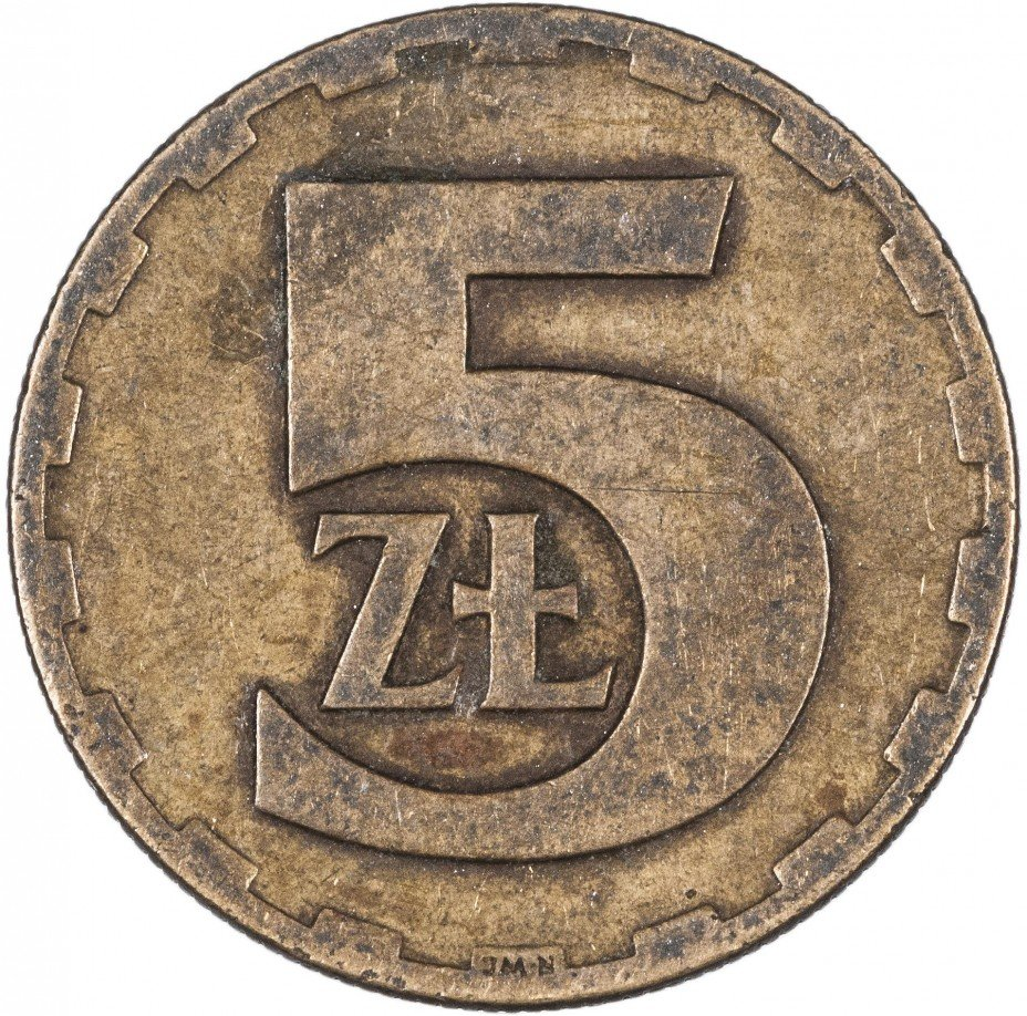 купить Польша 5 злотых (zlotych) 1975-1988, случайная дата