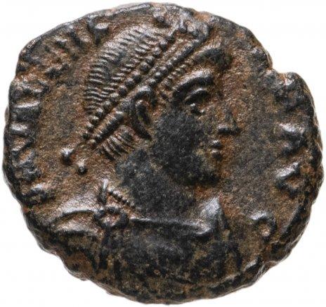 купить Римская Империя, Валент , Нуммий, 364-367 г.( Император идет вправо, волочит за волосы пленника)