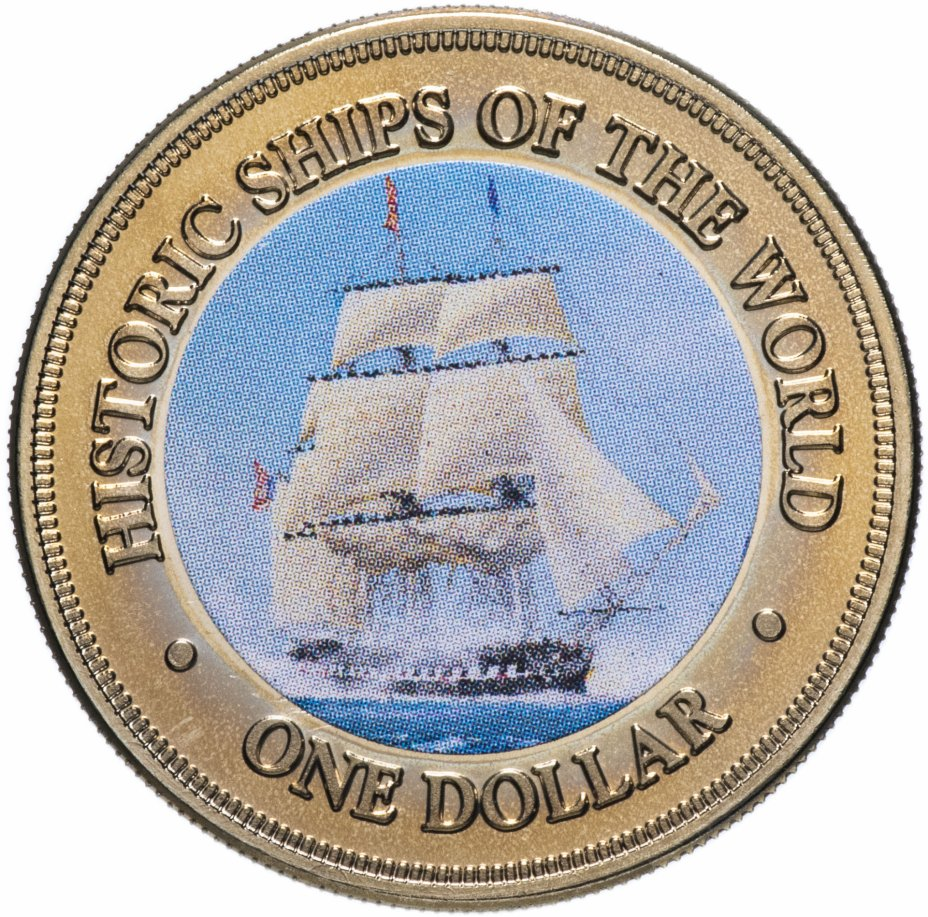 """купить Острова Кука 1 доллар (dollar) 2003 """"Исторические корабли"""""""