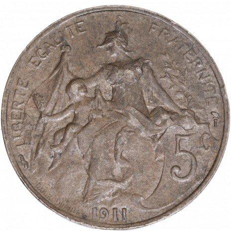 купить Франция 5 сантимов 1911