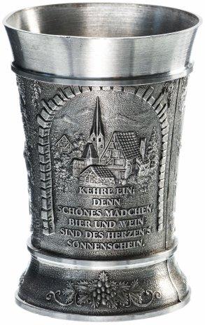 """купить Бокал для вина """"В трактире"""", олово, Германия, 1970-1990 гг."""