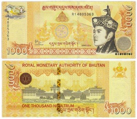 купить Бутан 1000 нгултрум 2016 (Pick 34b)
