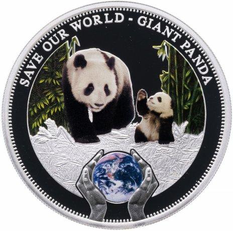 """купить Острова Кука 1 доллар 2013 """"Сохраним наш мир - Большая панда"""""""