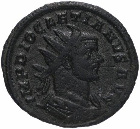 купить Римская Империя Диоклетиан 284–305 гг антониниан (реверс: Юпитер стоит влево, держит молнии и скипетр)